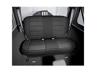 41515 Black Denim Rear Fold And Tumble Seat 97-02 Jeep Wrangler TJ Smittybilt