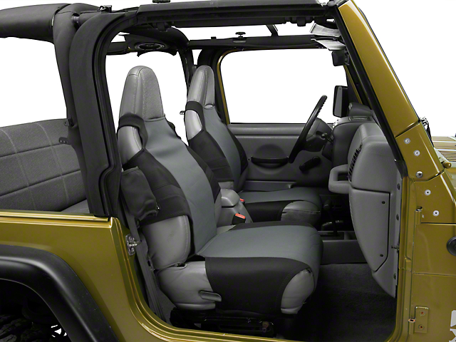 Rugged Ridge Neoprene Seat Protector - Black/Gray (87-06 Jeep Wrangler YJ & TJ)