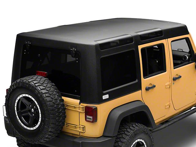 Patriot Fastbacks Surfrider Hard Top; Textured Black (07-18 Jeep Wrangler JK 4 Door)