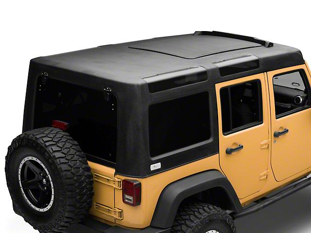 Patriot Fastbacks Surfrider Hard Top with Slider Sunroof; Textured Black (07-18 Jeep Wrangler JK 4 Door)