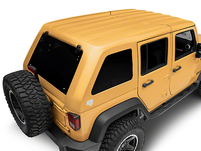 Patriot Fastbacks Victory Fastback Targa Hard Top; Textured Black (07-18 Jeep Wrangler JK 4 Door)