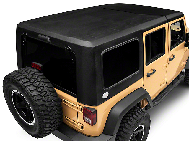 Patriot Fastbacks Victory Square Back Targa Hard Top; Textured Black (07-18 Jeep Wrangler JK 4 Door)