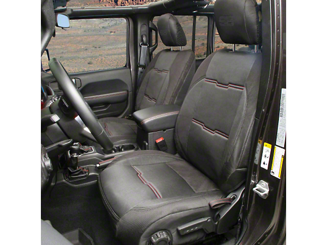 Smittybilt GEN2 Neoprene Front and Rear Seat Covers; Black (18-21 Jeep Wrangler JL 4 Door)