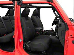 Smittybilt G.E.A.R. Custom Fit Front Seat Covers; Black (18-21 Jeep Wrangler JL)