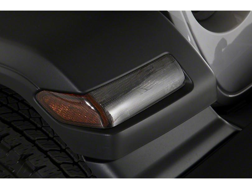Turn Signal Covers; Carbon Fiber Look (18-20 Jeep Wrangler JL Sport)