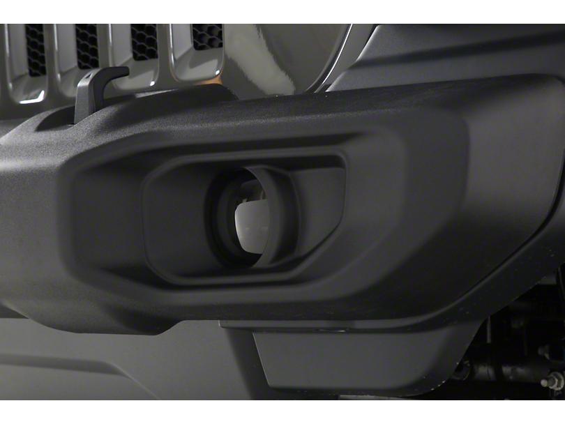 Fog Light Covers; Smoked (18-20 Jeep Wrangler JL Sahara, Rubicon)