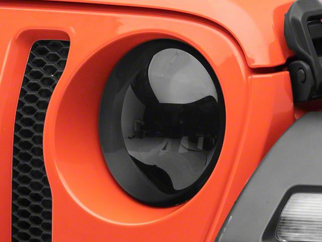 Headlight Covers; Smoked (18-21 Jeep Wrangler JL)