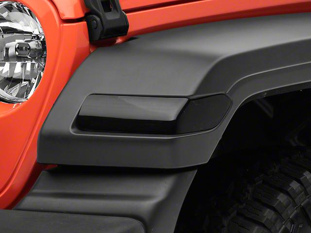 Turn Signal Covers; Smoked (18-21 Jeep Wrangler JL Sport)