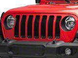RedRock 4x4 Headlight Trim and Grille Insert Kit; Matte Black (18-21 Jeep Wrangler JL Sport)