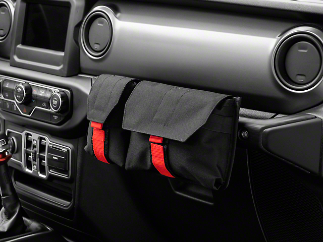 Alterum Grab Handle Storage Bag; Dual Pocket (07-21 Jeep Wrangler JK & JL)