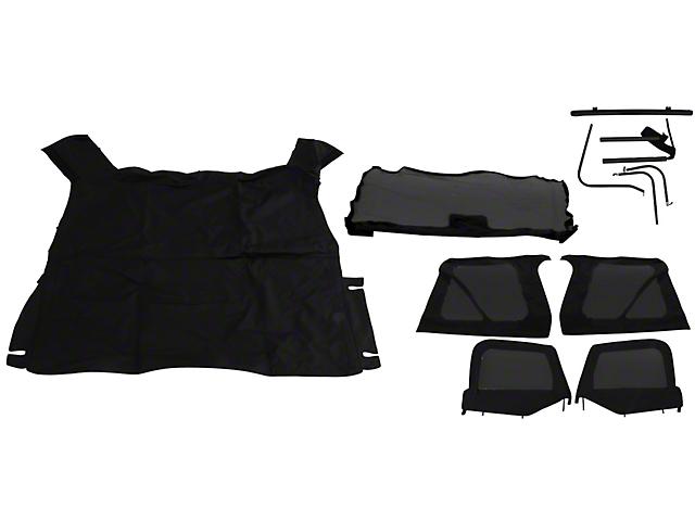 Complete Soft Top; Black Diamond (97-06 Jeep Wrangler TJ w/ Half Doors, Excluding Unlimited)