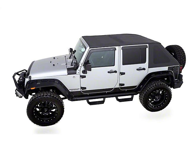 TrailView Fastback Soft Top; Black Diamond (07-18 Jeep Wrangler JK 4 Door)