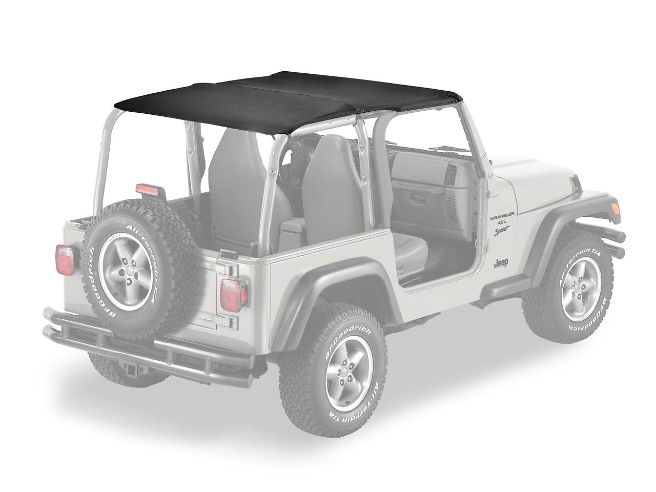 Bestop Safari-Style Header Bikini Top - Black Denim (97-02 Jeep Wrangler TJ)
