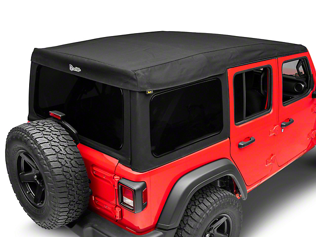 Bestop Supertop Ultra Soft Top; Black Twill (18-20 Jeep Wrangler JL 4 Door)