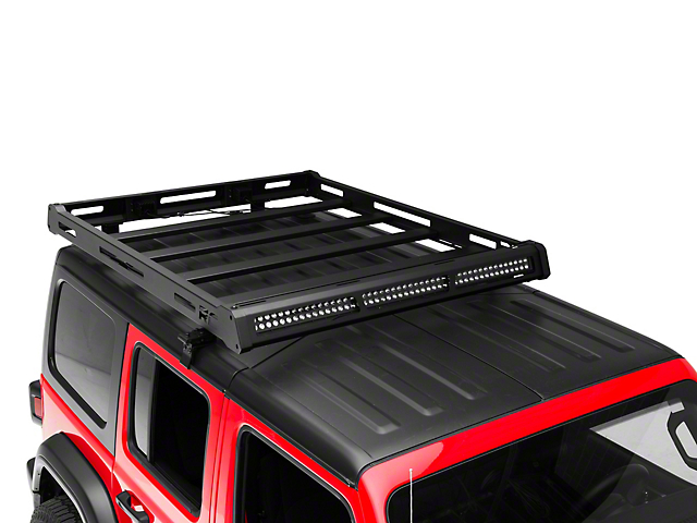 Rough Country Roof Rack System with Black-Series LED Lights (18-21 Jeep Wrangler JL)