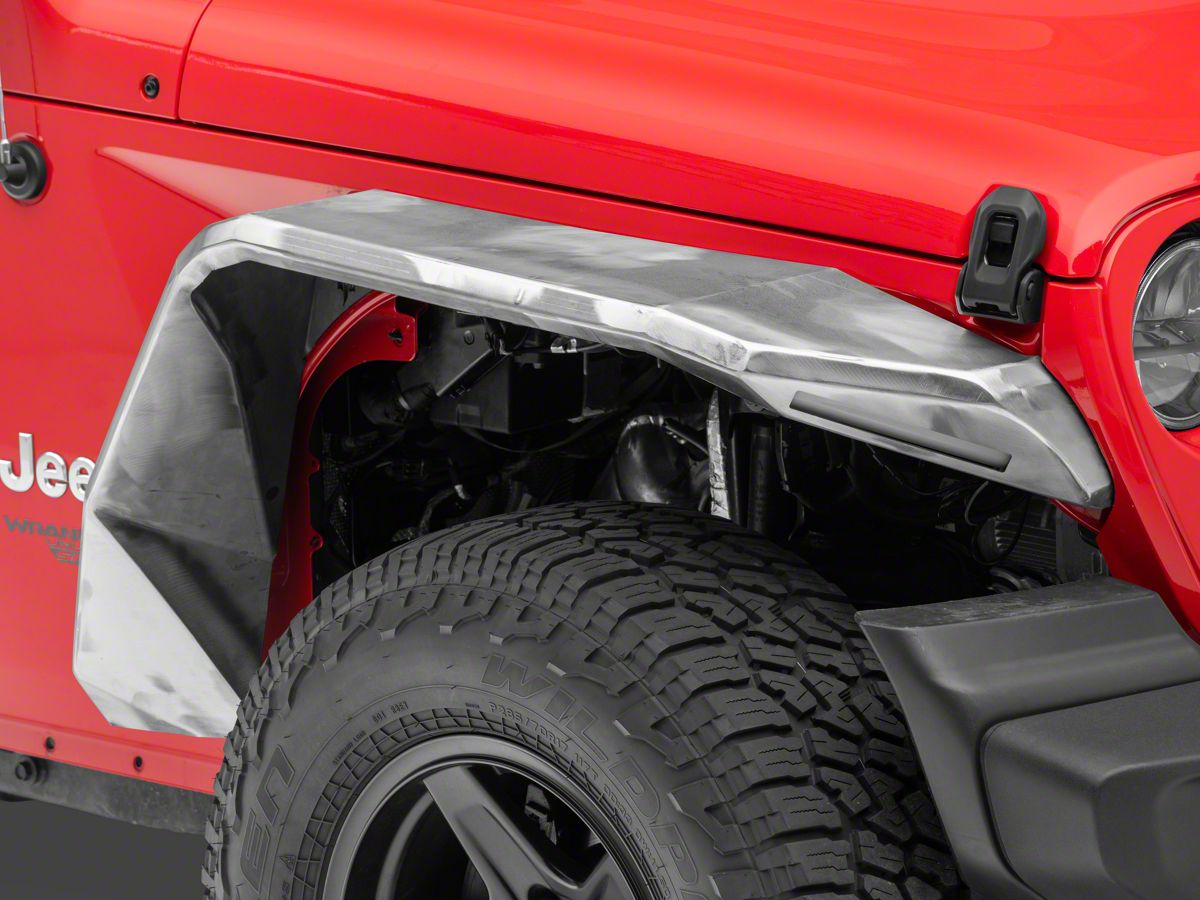 Road Armor Jeep Gladiator Stealth Front Fender Flares With Switchback Led Drl Raw Steel 518aff0z 2020 Jeep Gladiator Jt