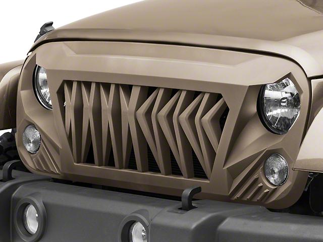Inyo Grille; Unpainted (07-18 Jeep Wrangler JK)