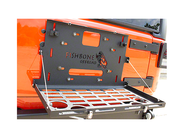 Fishbone Offroad Tailgate Table (07-18 Jeep Wrangler JK)