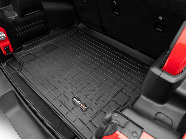 Weathertech DigitalFit Cargo Liner; Black (18-21 Jeep Wrangler JL 4 Door w/o Subwoofer & w/ Flat Load Floor)