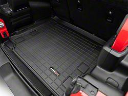 Weathertech DigitalFit Cargo Liner; Black (18-21 Jeep Wrangler JL 4-Door w/o Subwoofer & w/ Flat Load Floor, Excluding 4xe)