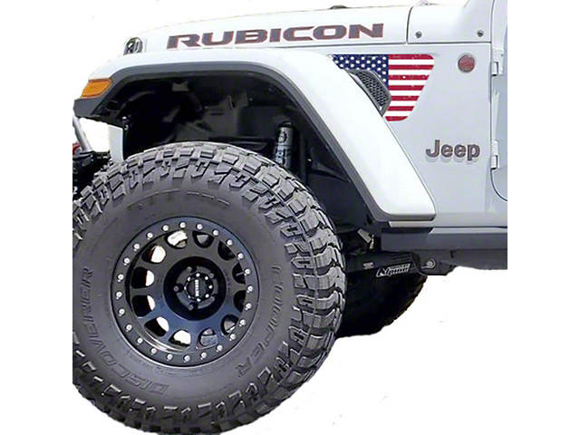 Under the Sun Fender Vent Decals; Distressed Old Glory (18-21 Jeep Wrangler JL)
