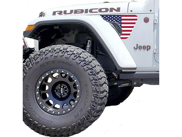 Under the Sun Fender Vent Decals; Old Glory (18-20 Jeep Wrangler JL)