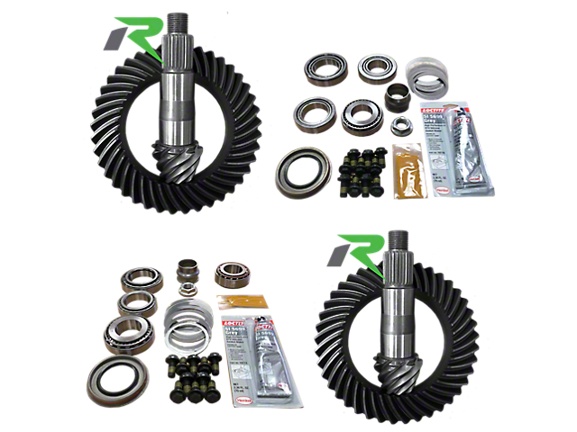 Revolution Gear & Axle Dana 44 Front Axle/44 Rear Axle Ring and Pinion Gear Kit with Master Overhaul Kit; 4.56 Gear Ratio (18-20 Jeep Wrangler JL Rubicon)