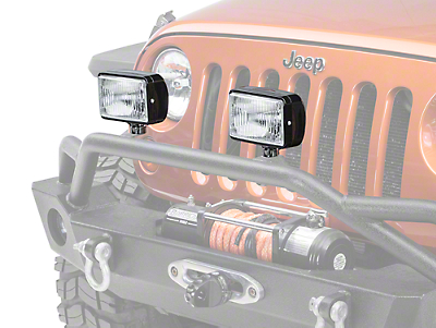Rugged Ridge 5x7 in. Halogen Fog Light - Single (87-18 Jeep Wrangler YJ, TJ, JK & JL)