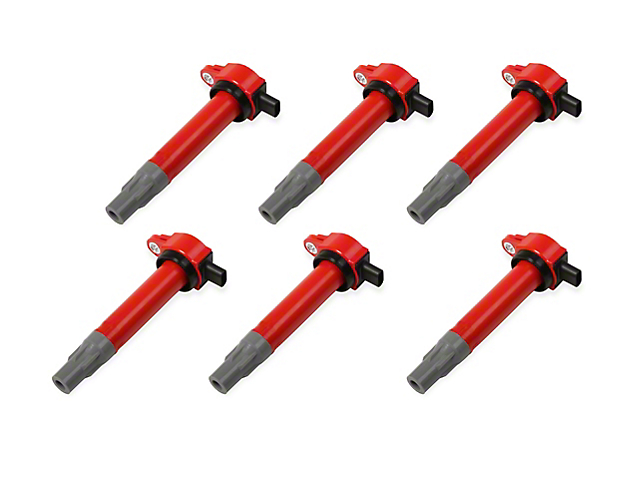 MSD Blaster Series Ignition Coils; Red (09-10 3.5L)