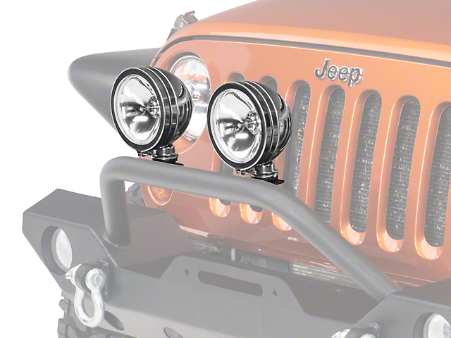 Rugged Ridge 6-Inch Halogen Fog Lights; Stainless Steel; Set of Two