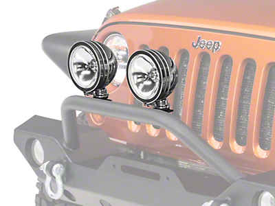 Rugged Ridge 6 in. Halogen Fog Lights - Stainless Steel - Pair (87-18 Wrangler YJ, TJ & JK)