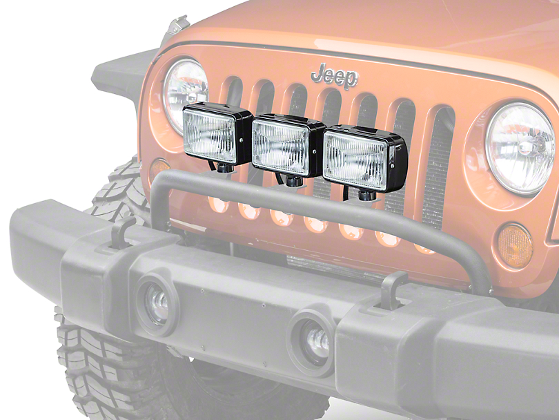 Rugged Ridge 5x7 in. Halogen Fog Lights - Set of Three (87-17 Wrangler YJ, TJ & JK)
