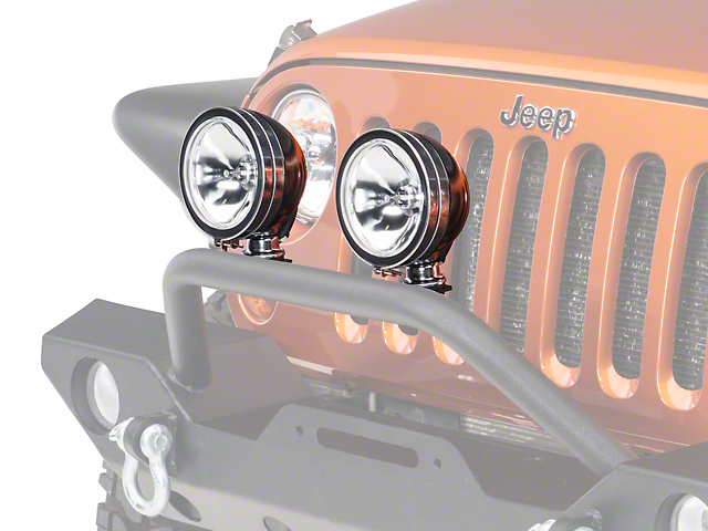 Rugged Ridge 6 in. Round Halogen Fog Light (87-18 Wrangler YJ, TJ & JK)