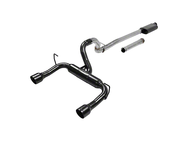 Flowmaster Outlaw Cat-Back Exhaust with Black Tips (18-20 3.6L Jeep Wrangler JL)