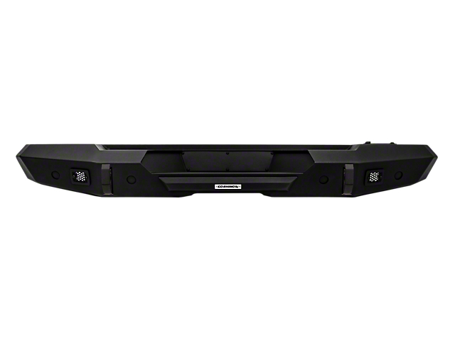 Trailline Rear Straight Bumper; Textured Black (18-20 Jeep Wrangler JL)