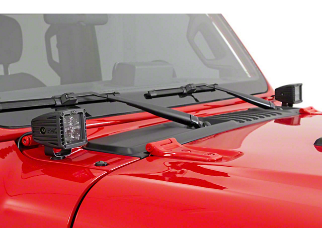 Rough Country 2-inch Black Series LED Cube Easy-Mount Kit (20-21 Jeep Gladiator JT)