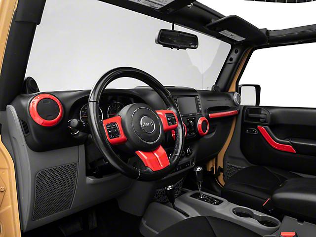Alterum Interior Trim Kit; Red (11-18 Jeep Wrangler JK)