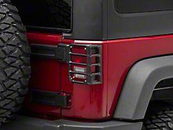 RedRock 4x4 Tail Light Guards; Matte Black (07-18 Jeep Wrangler JK)