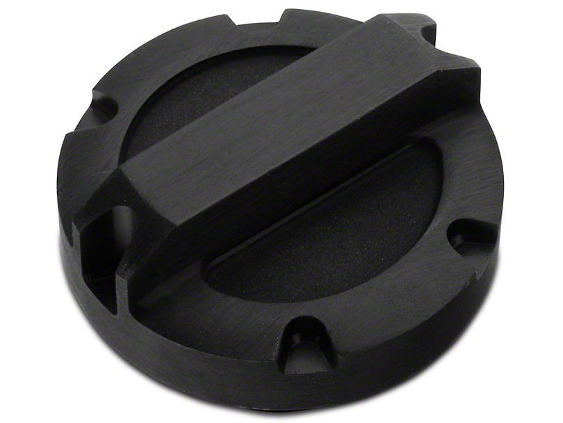 Rugged Ridge Billet Aluminum Oil Cap - Black (97-11 Jeep Wrangler TJ & JK)