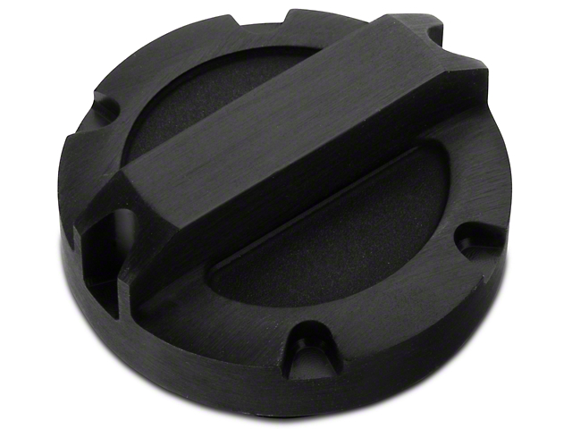 Rugged Ridge Oil Cap; Black Aluminum (97-11 Jeep Wrangler TJ & JK)
