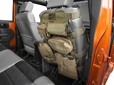 Smittybilt G.E.A.R. Front Seat Cover - Olive Drab Green (87-18 Jeep Wrangler YJ, TJ, JK & JL)