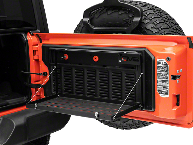 DV8 Offroad Folding Trail Tailgate Table (18-21 Jeep Wrangler JL)