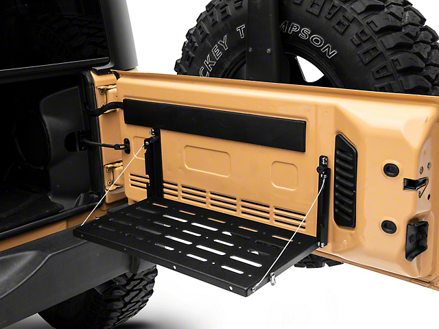 DV8 Offroad Folding Trail Tailgate Table (07-18 Jeep Wrangler JK)