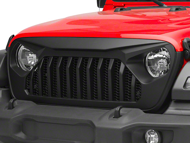 DV8 Offroad Replacement Grille; Black (18-21 Jeep Wrangler JL)