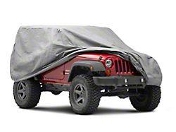 4-Layer Breathable Full Car Cover; Gray (07-21 Jeep Wrangler JK & JL 2-Door)