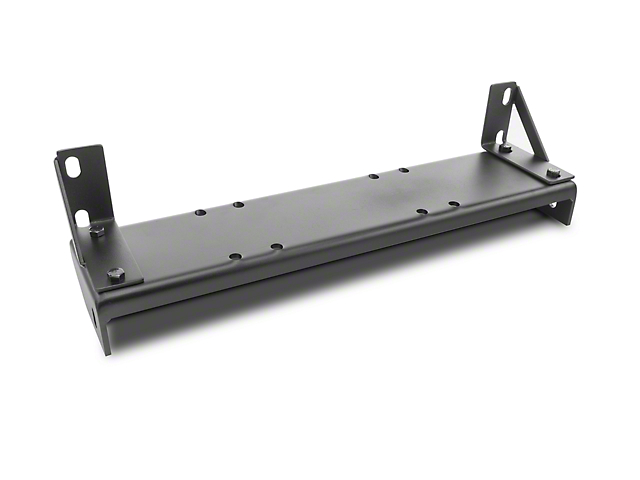 Olympic 4x4 Front Bumper Winch Mount - Textured Black (07-19 Jeep Wrangler JK & JL)
