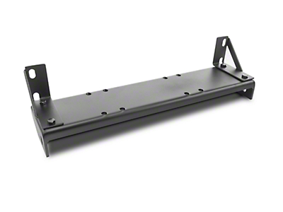 Olympic 4x4 Front Bumper Winch Mount - Textured Black (07-18 Wrangler JK)