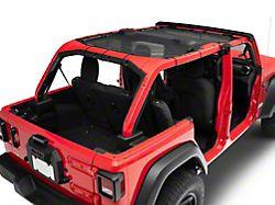 Extended Mesh Shade Top; Black Mesh (18-21 Jeep Wrangler JL 4-Door)