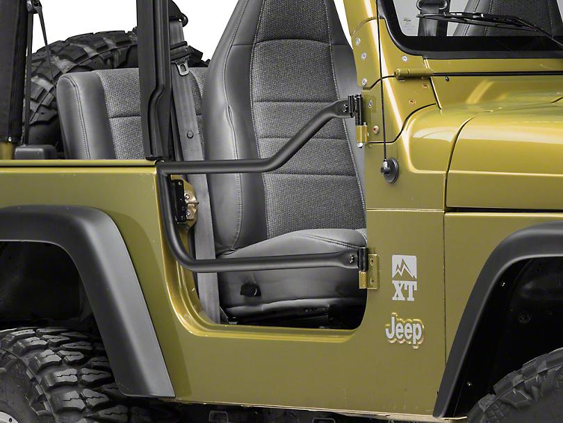 Olympic 4x4 Safari Doors - Textured Black (97-06 Jeep Wrangler TJ)