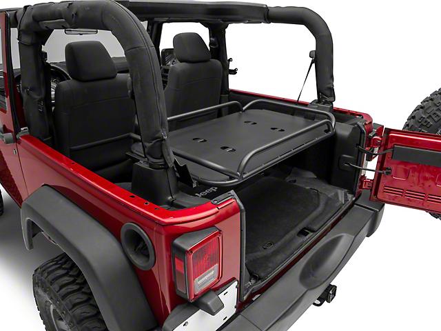 Rear Fold-Up Interior Storage Rack (07-18 Jeep Wrangler JK 2 Door)